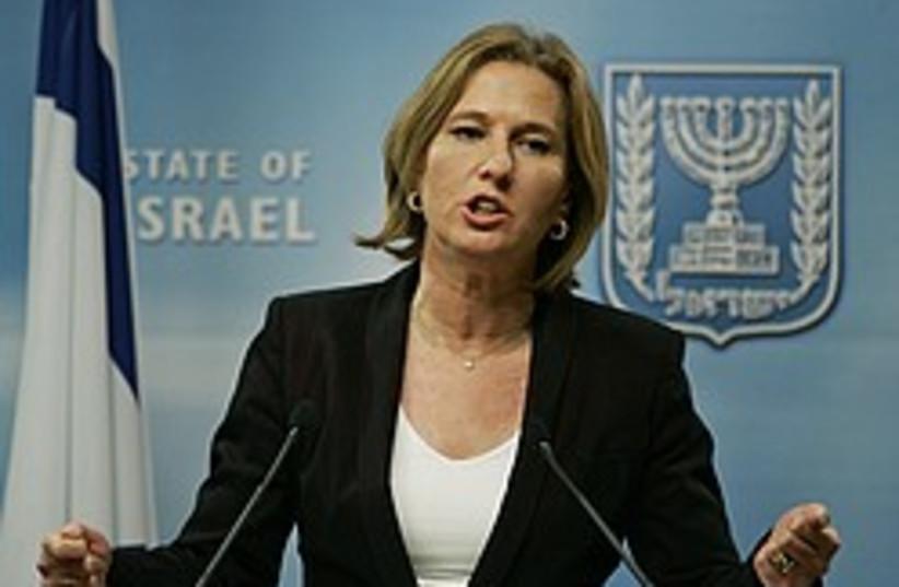 Livni press conference 248 88 ap (photo credit: AP)