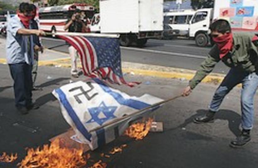 anti-Israel protest San Salvador 248.88 (photo credit: AP)