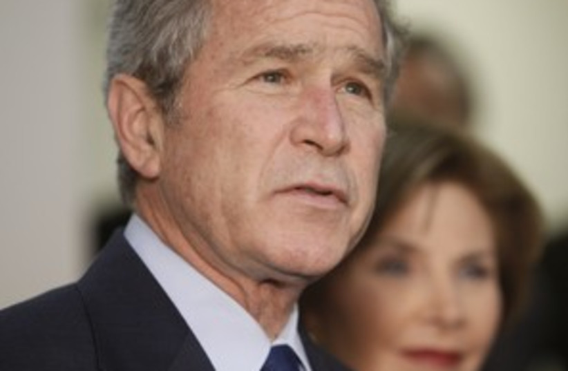 Bush (photo credit: AP)