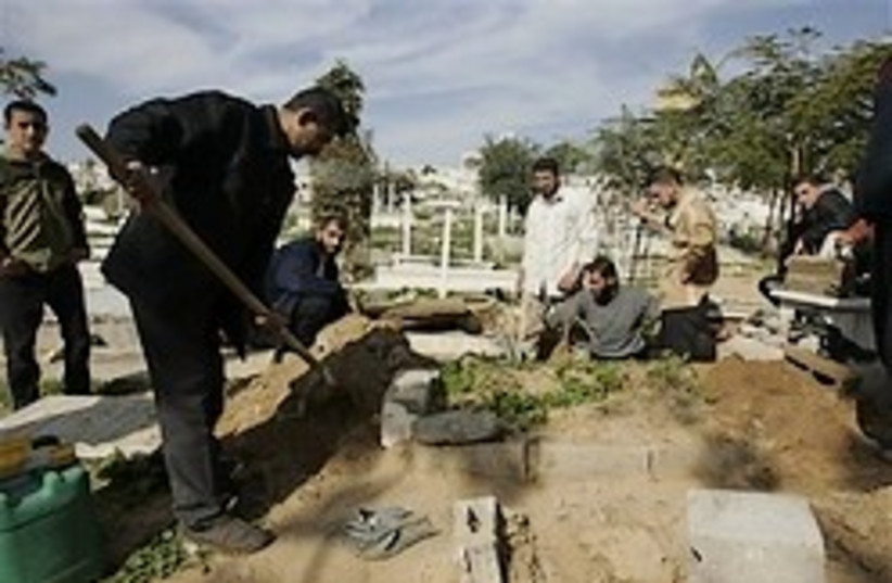 burying gaza dead 248.88 ap (photo credit: AP)