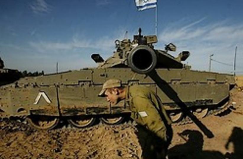 idf tank aiming at YOU 248 88 ap (photo credit: AP)