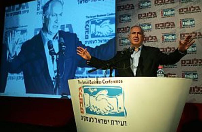 netanyahu arms spread (photo credit: AP)