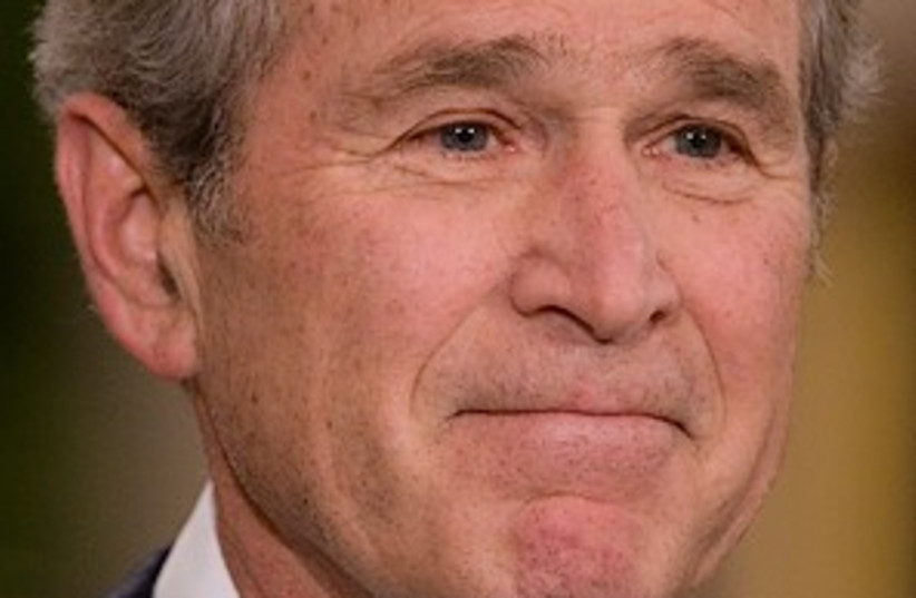 adieu bush (photo credit: AP)