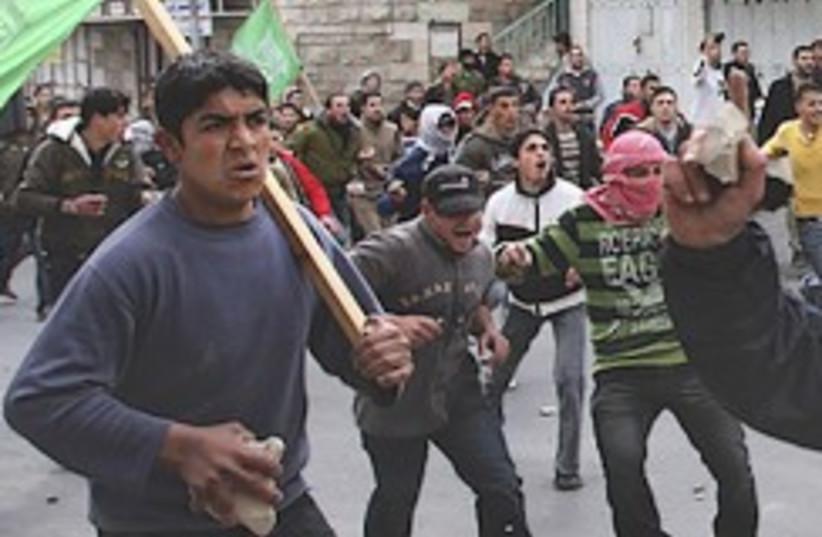 Hebron rioters 248.88 (photo credit: AP)