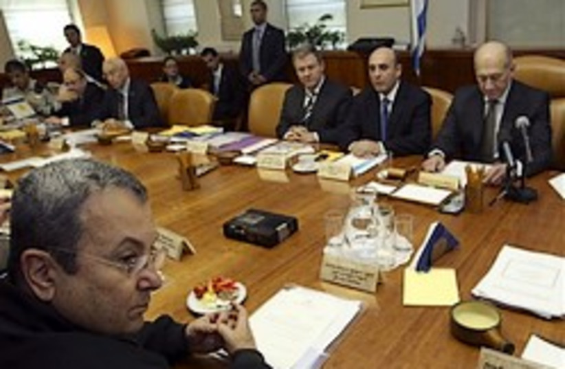 cabinet meeting during truce 248.88ap (photo credit: AP)