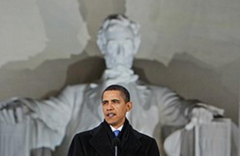 obama lincoln memorial 248 88 ap (photo credit: AP)
