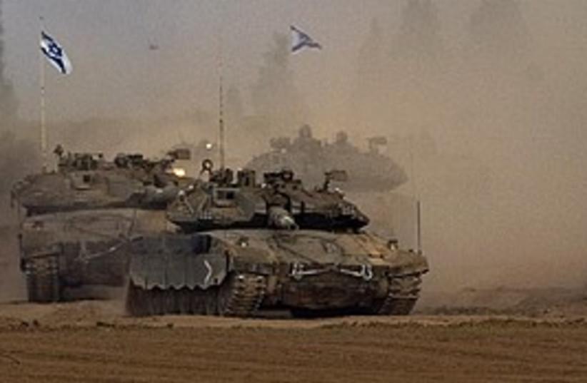 idf tanks return from gaza 298 ap (photo credit: AP)