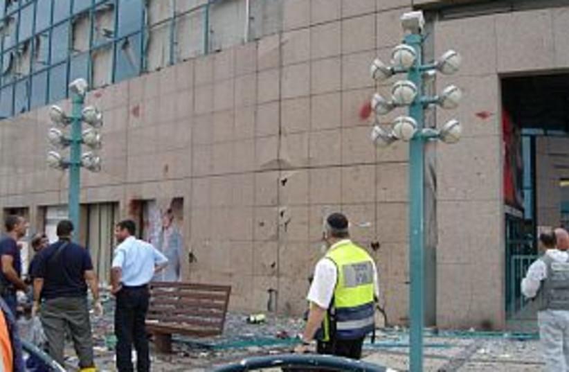 mall bomb wreckage 298.8 (photo credit: Zaka)