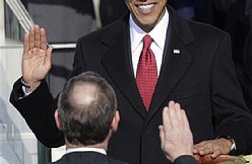 obama swearing in take 1 248 88 (photo credit: AP)
