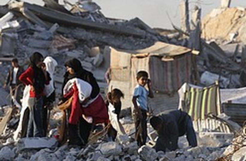 Gaza rubble 248.88 ap (photo credit: AP [file])