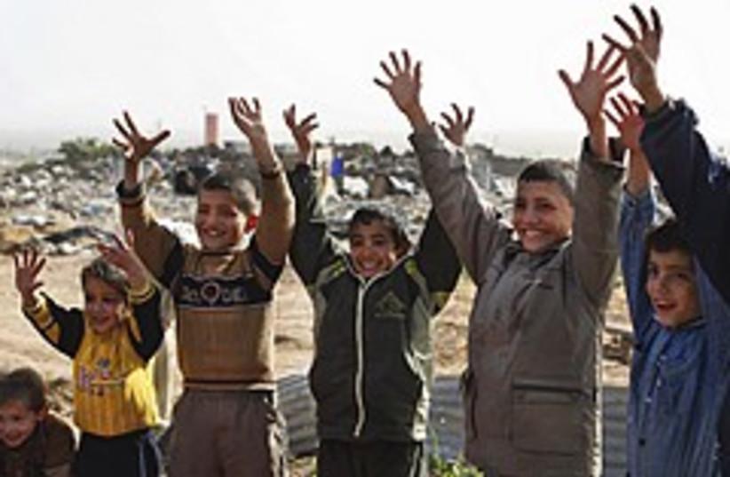 Gaza kids play 248.88 (photo credit: AP)