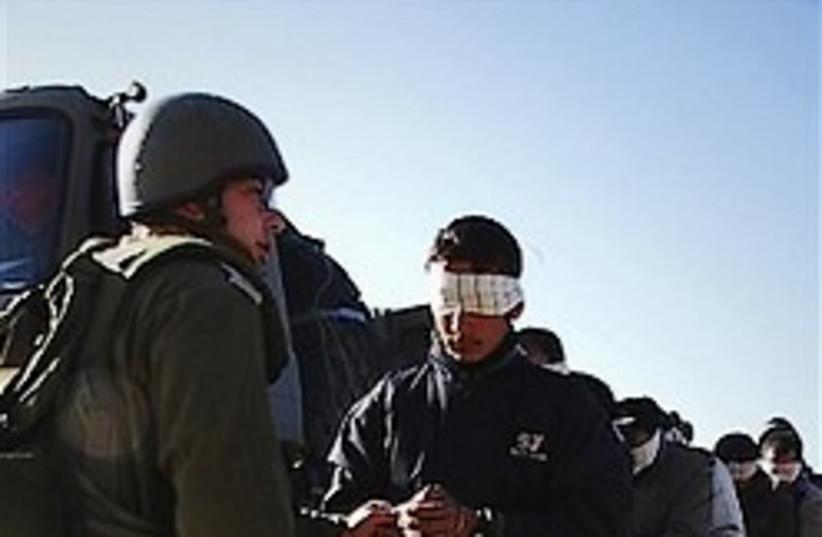IDf arrest Hamas Gaza 248/88 ap (photo credit: )