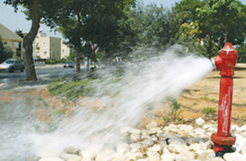 leaking water pipe 88 248 (photo credit: Ariel Jerozolimski)