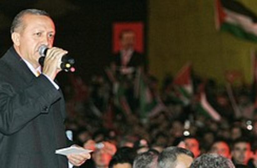 erdogan speaks to crowd 248.88 (photo credit: AP)