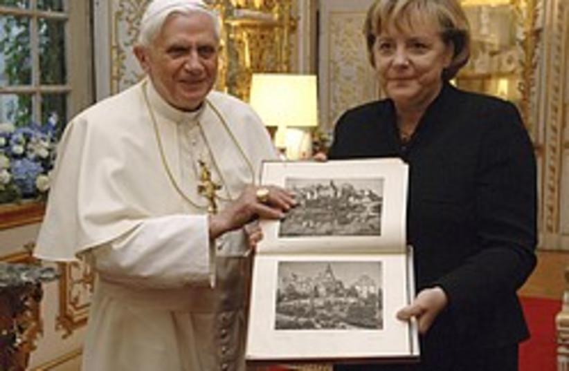 merkel pope 248 88 ap (photo credit: AP [file])
