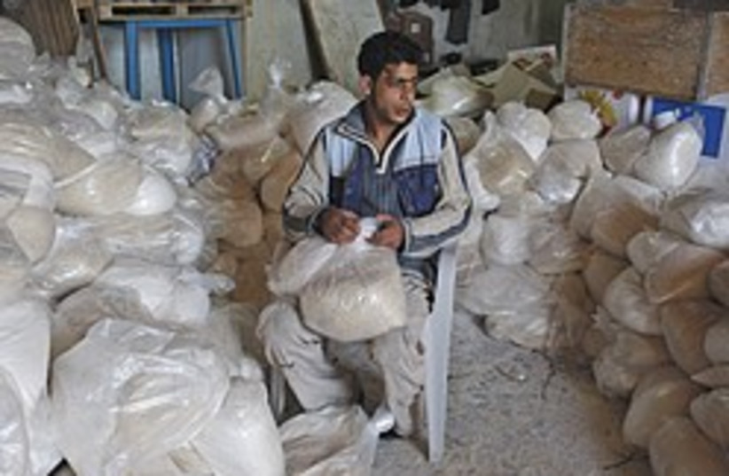 gaza aid man on chair 248.88 (photo credit: AP)
