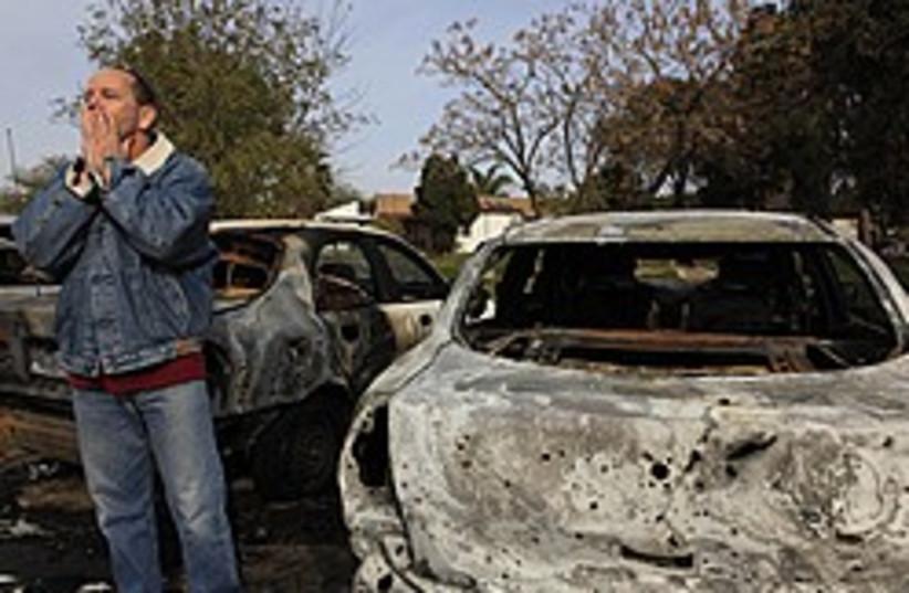 kassam damage car 248 88 ap (photo credit: AP)