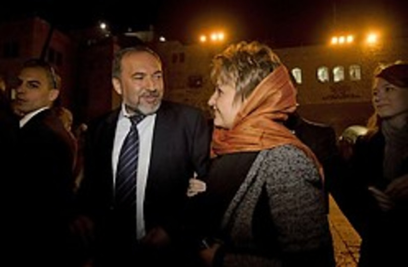 lieberman and wife 248.88 (photo credit: AP)