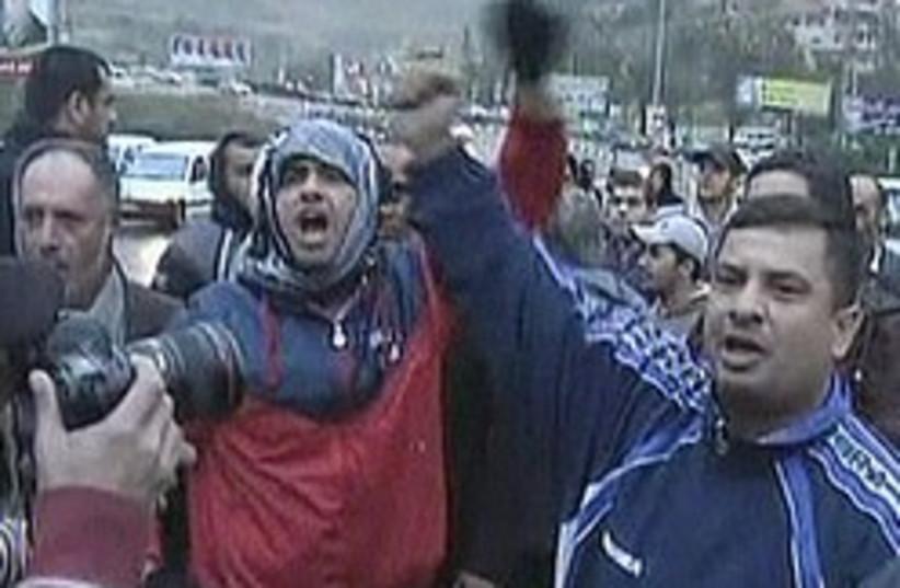 Umm el-Fahm elections riots 248 88 (photo credit: Channel 10)