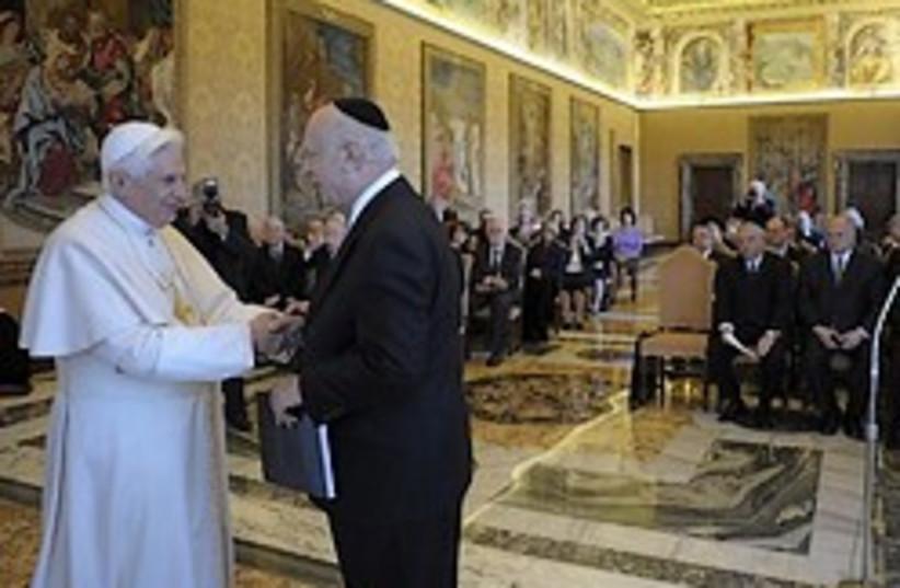 pope with Jews 248.88 ap (photo credit: AP)
