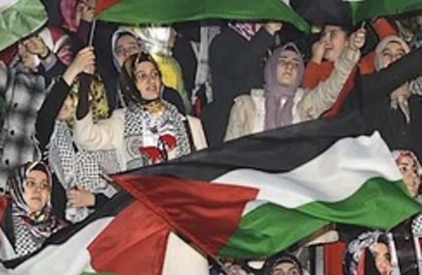 turkey pro-Palestinian  protest 248.88 (photo credit: AP)