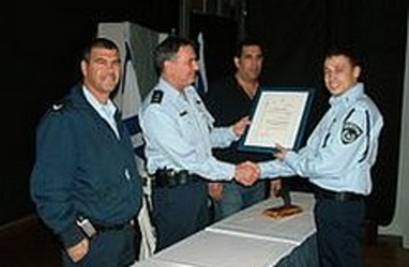 police congratulating eachother 248 88 (photo credit: Negev Police)