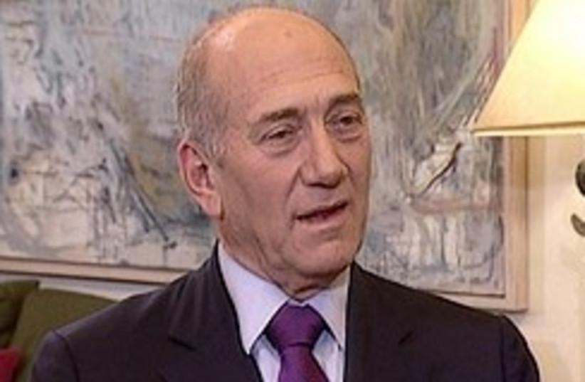 Olmert speaks to Channel 2 248.88 (photo credit: Channel 2)
