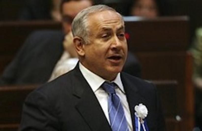 netanyahu knesset 248.88 (photo credit: AP)