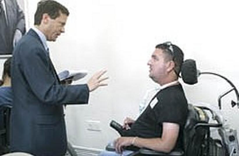 herzog disabled 248 (photo credit: Ariel Jerozolimski )