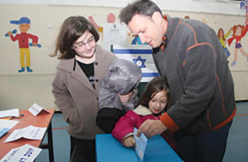 family votes 88 248 (photo credit: Ariel Jerozolimski)