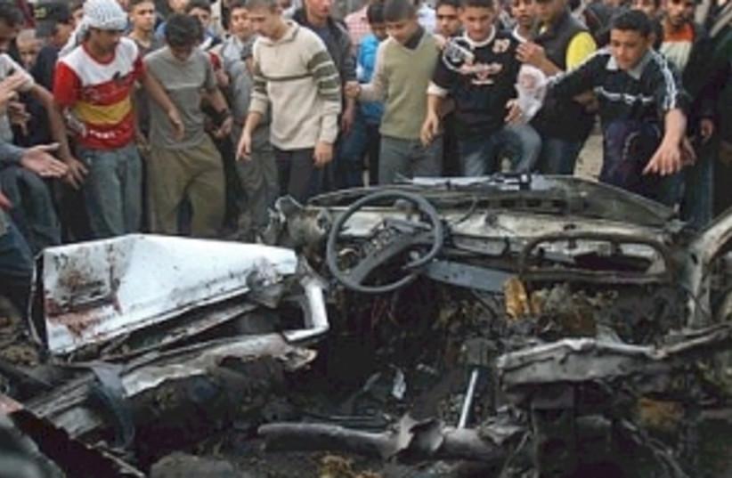 iaf airstrike car 298.88 (photo credit: AP)