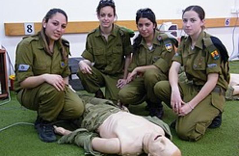 female idf paramedics 248.88 (photo credit: Yaakov Katz)