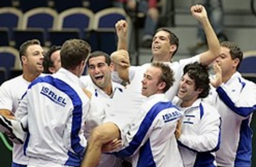 israel beats sweden tennis levy 248 ap (photo credit: AP)