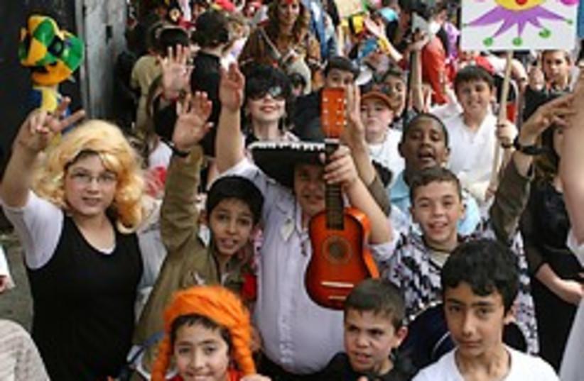 purim kids costumes 248.88 AJ (photo credit: Ariel Jerozolimski)