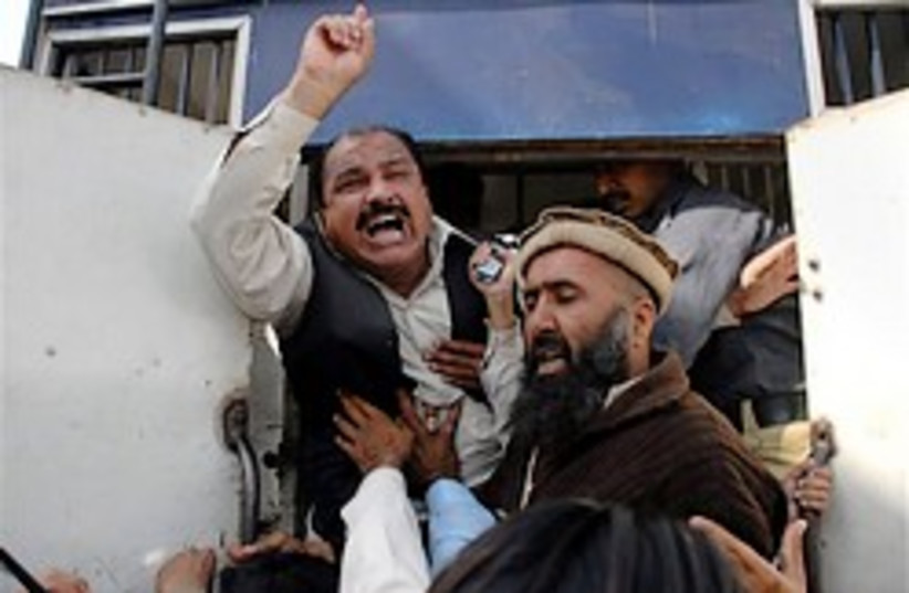 Nawaz Sharif supporters 248.88 ap (photo credit: AP)