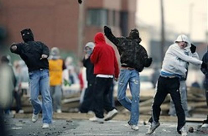 north ireland riots 248.88 ap (photo credit: AP)