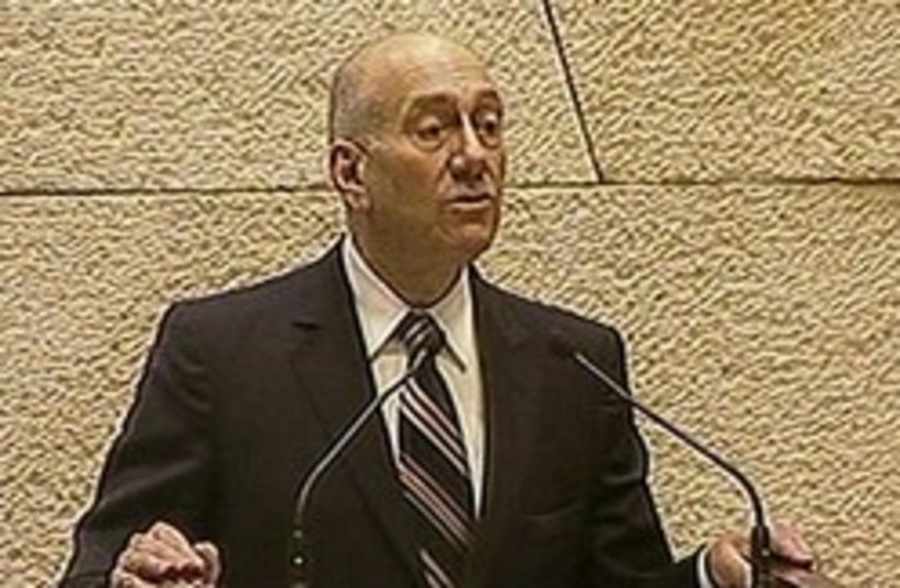 olmert knesset 248 88 (photo credit: Channel 2)