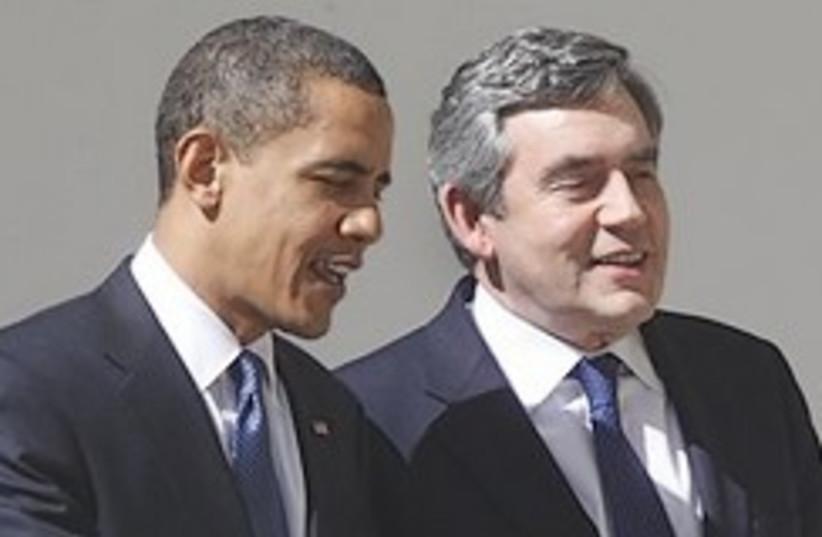 brown and obama 248.88 (photo credit: AP)