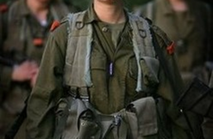 female women soldier 248.88 ap (photo credit: AP)