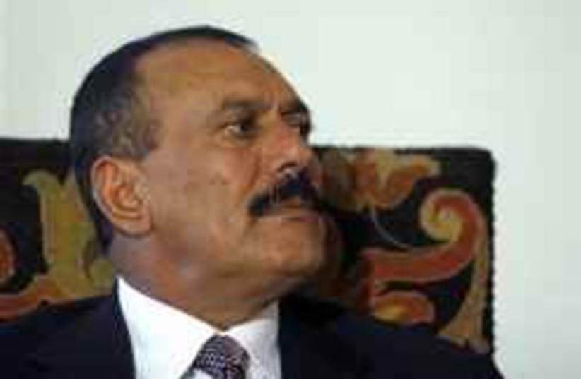 Yemeni President Ali Abdullah Saleh (photo credit: AP)