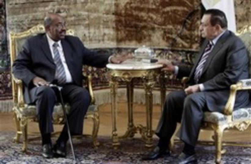 omar al bashir and  mubarak 248 ap (photo credit: AP)