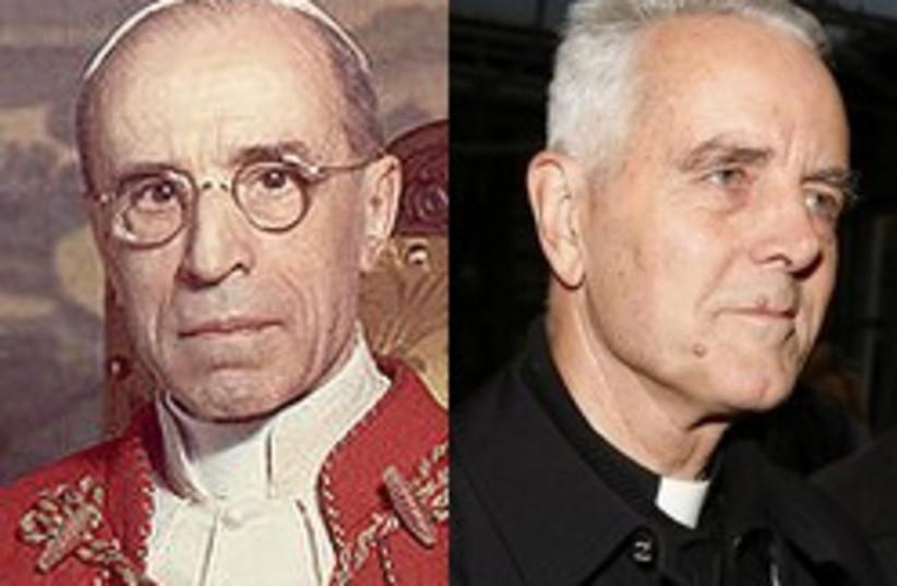 pope Pius XII and williamson 248.88 (photo credit: AP)