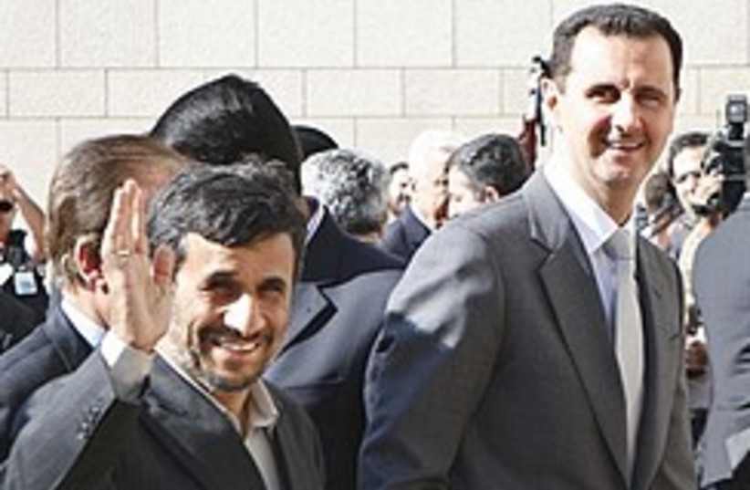 Ahmadinejad assad bff 248.88 (photo credit: AP)