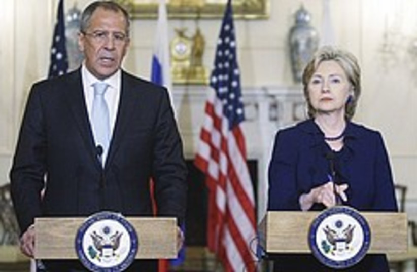 Clinton and Lavrov 248.88 (photo credit: AP)