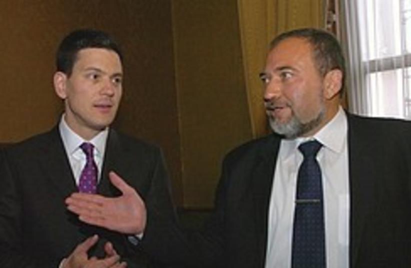 Lieberman Miliband 248.88 (photo credit: Courtesy)