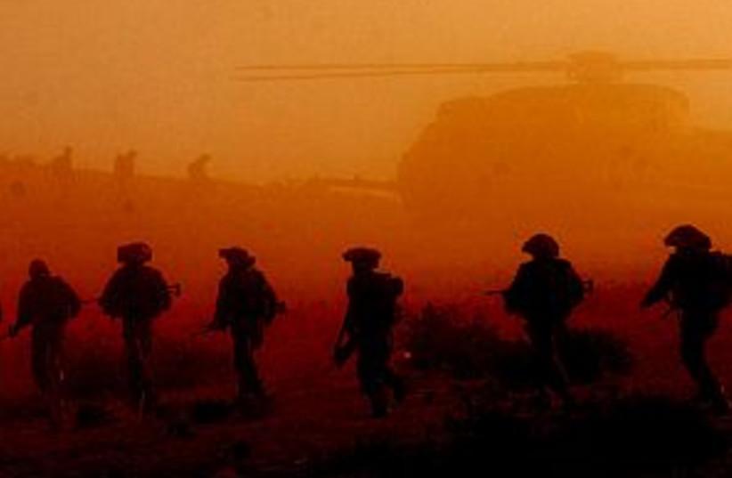 soldiers sunset good 298 (photo credit: IDF)