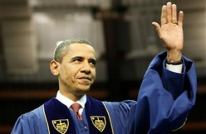 obama notre dame 248.88 (photo credit: AP)