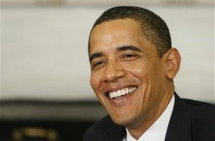 obama smiles at bibi 248 88 ap (photo credit: AP)