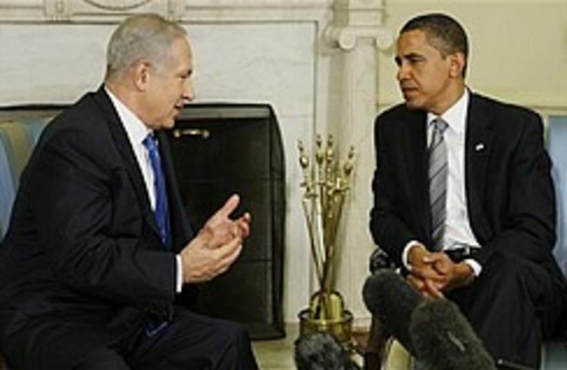 netanyahu stresses point to obama 248.88 (photo credit: AP)