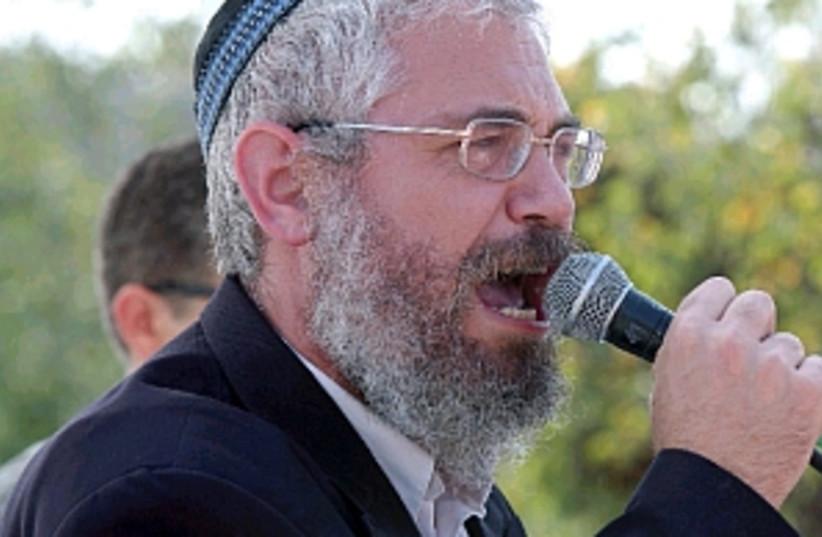 rabbi motti elon, bennis (photo credit: Ariel Jerozolimski)